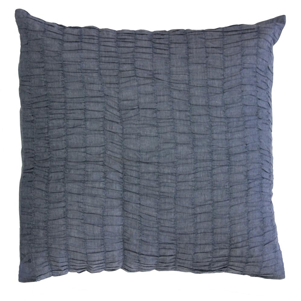 """Blue Pintuck Toss Pillow 16"""" W X 16"""" L"""
