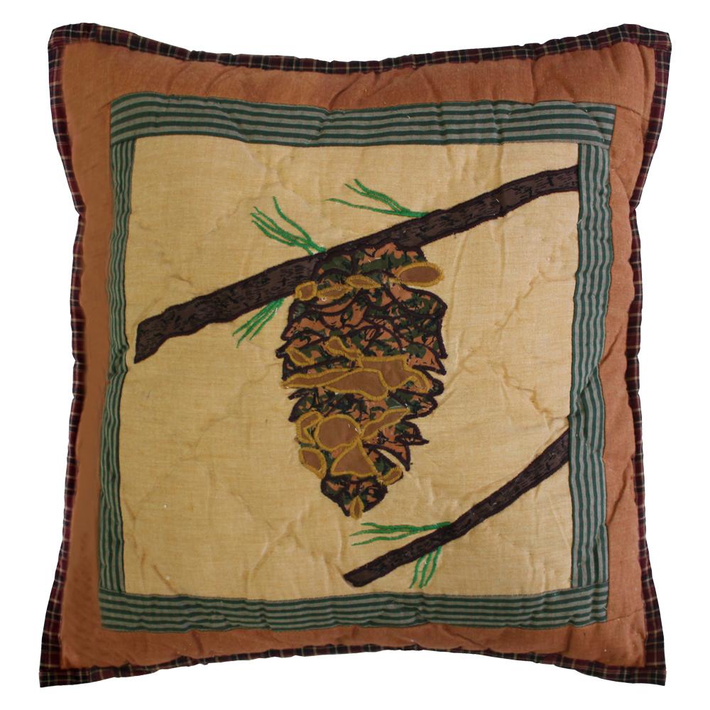 "Pinecone Toss Pillow 16""W x 16""L"