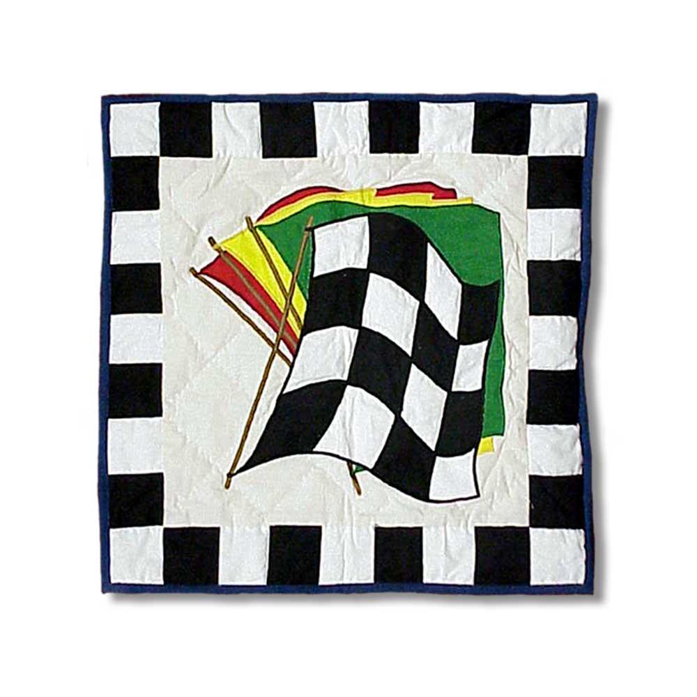 """Racecar Toss Pillow 16""""W x 16""""L"""