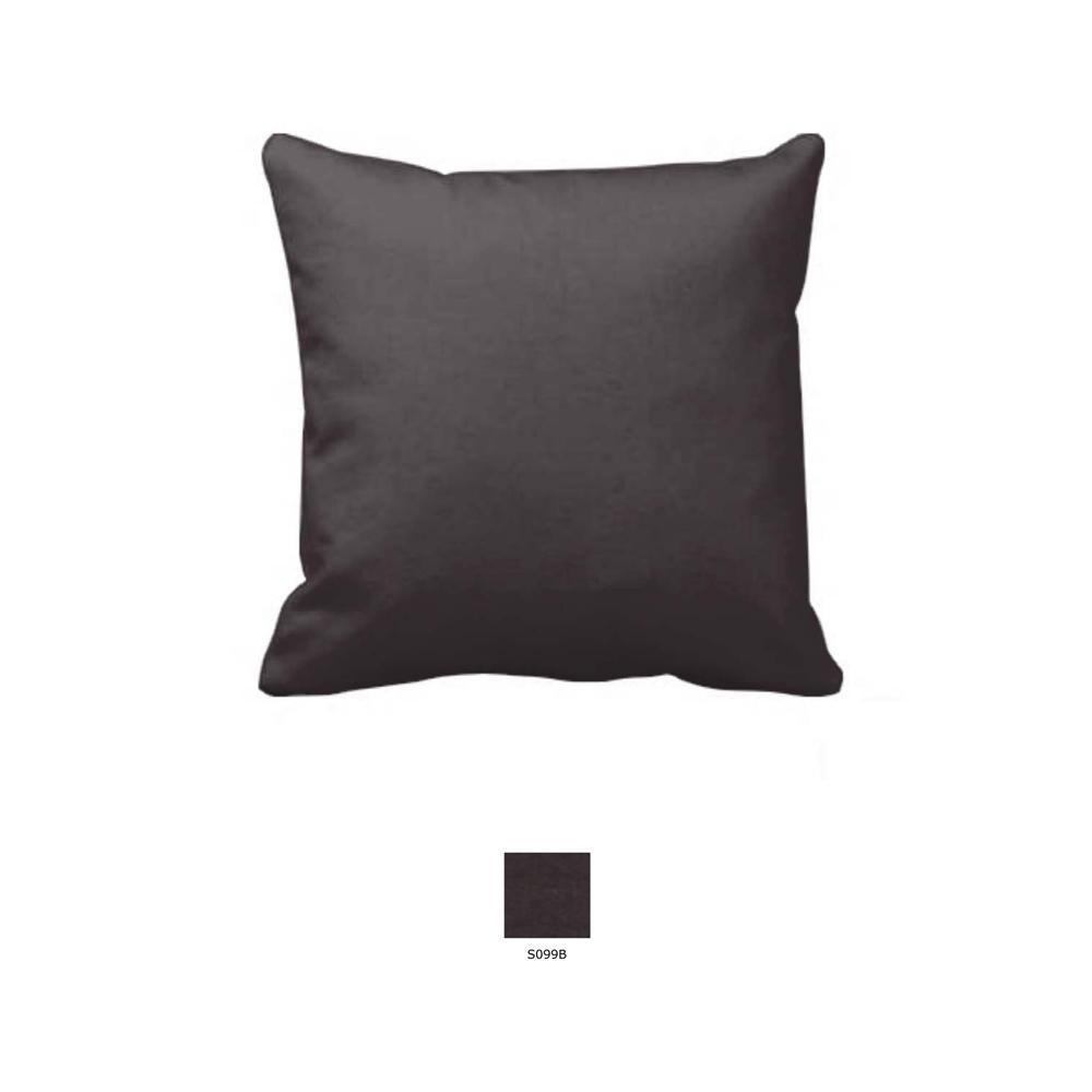 """Black Solid Toss Pillow 16""""W x 16""""L"""