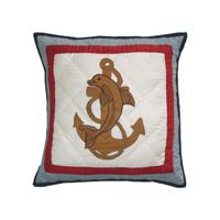 """Ships Ahoy Toss Pillow 16""""W x 16""""L"""
