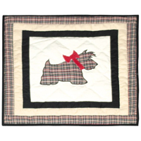 "Scottie Toss Pillow 16""W x 16""L"