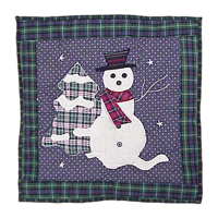"""Snowman Toss Pillow 16""""W x 16""""L"""