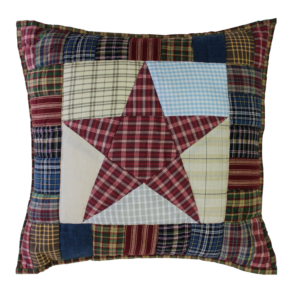 """Stars and Squares Toss Pillow 16""""W x 16""""L"""
