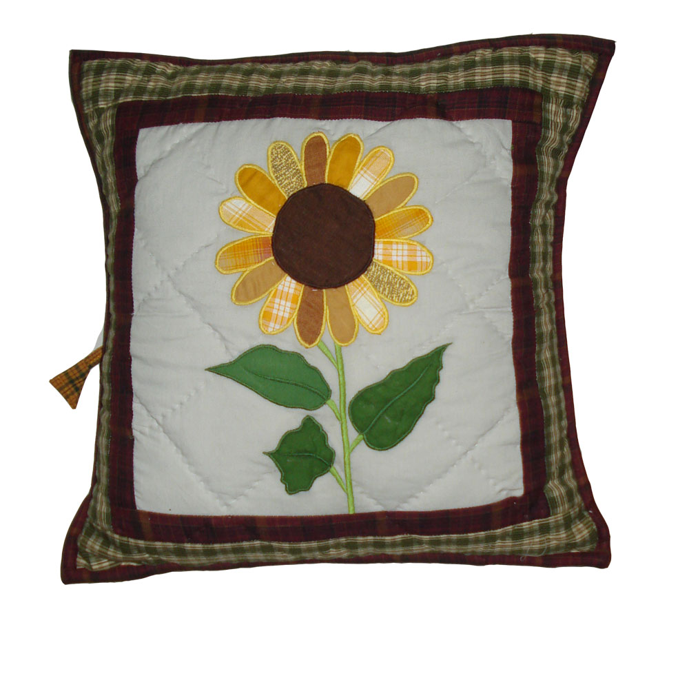 "Sun Burst Toss Pillow 16""W x 16""L"