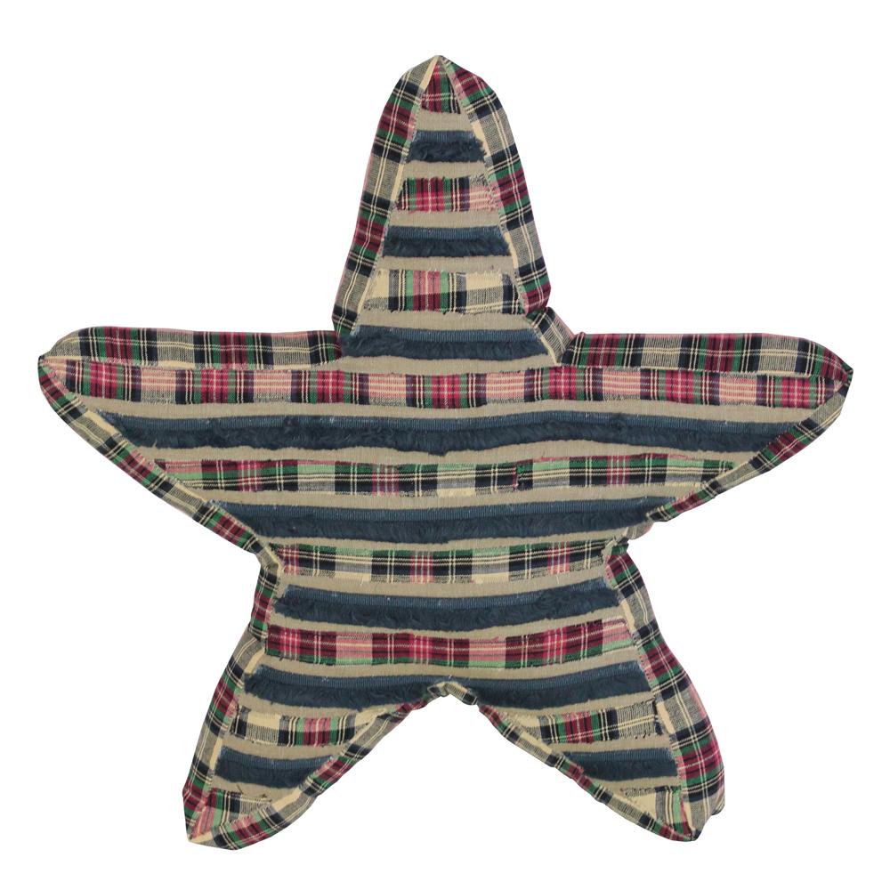 "Tartan Star Toss Pillow 16""W x 16""L"