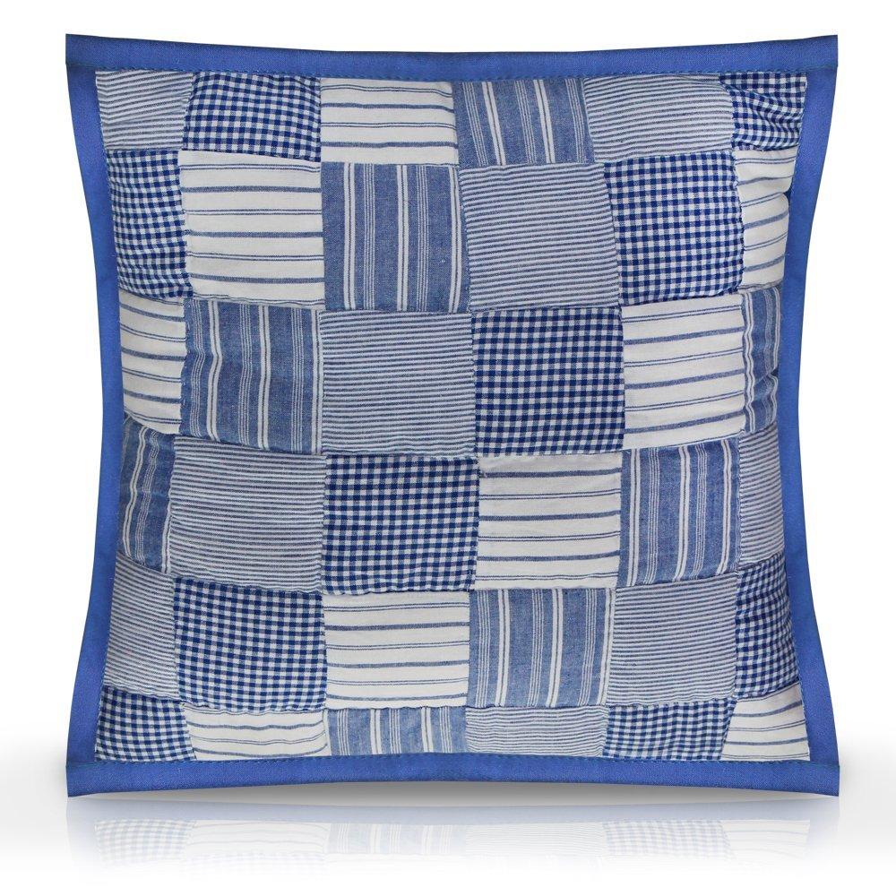 "Tumbling Blues Toss Pillow 16""W x 16""L"
