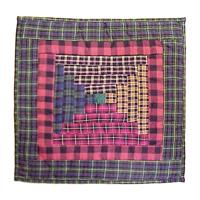"""Tartan Log Cabin Toss Pillow 16""""W x 16""""L"""