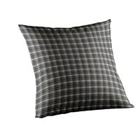 """Blue Black Grey Plaid Toss Pillow 16""""W x 16""""L"""