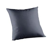 """Blue Ecru Gingam Toss Pillow 16""""W x 16""""L"""