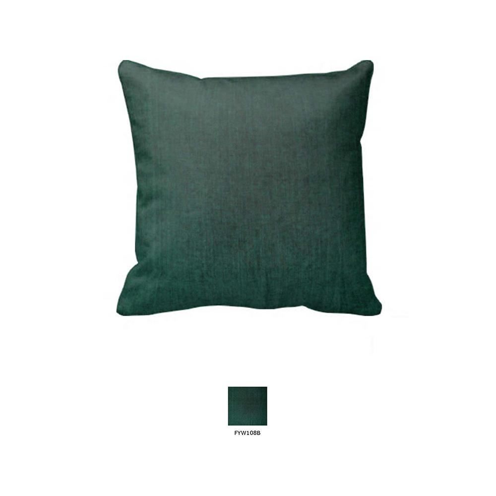 "Hunter Green Chambray Toss Pillow 16""W x 16""L"