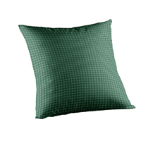 "Green Check Plaid With White Toss Pillow 16""W x 16""L"