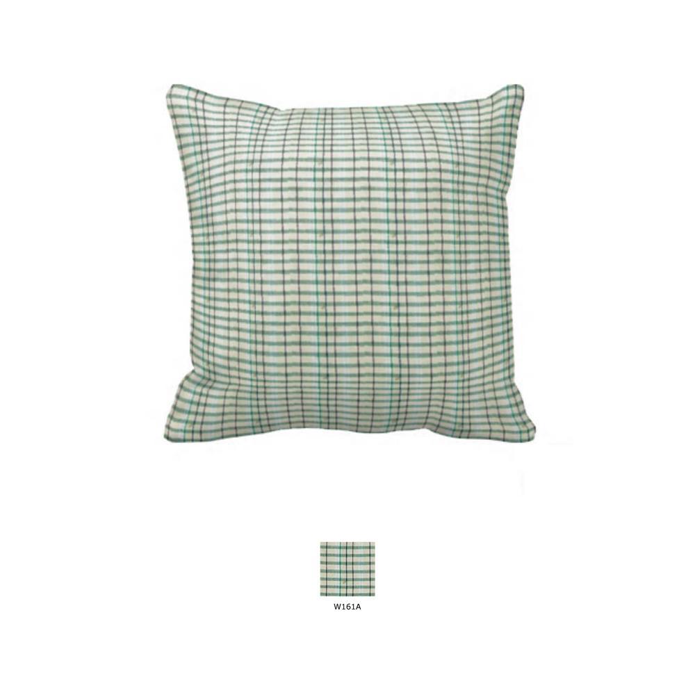 """Light Green Line Plaid Toss Pillow 16""""W x 16""""L"""