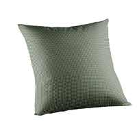 """Sage Green Gingham Toss Pillow 16""""W x 16""""L"""