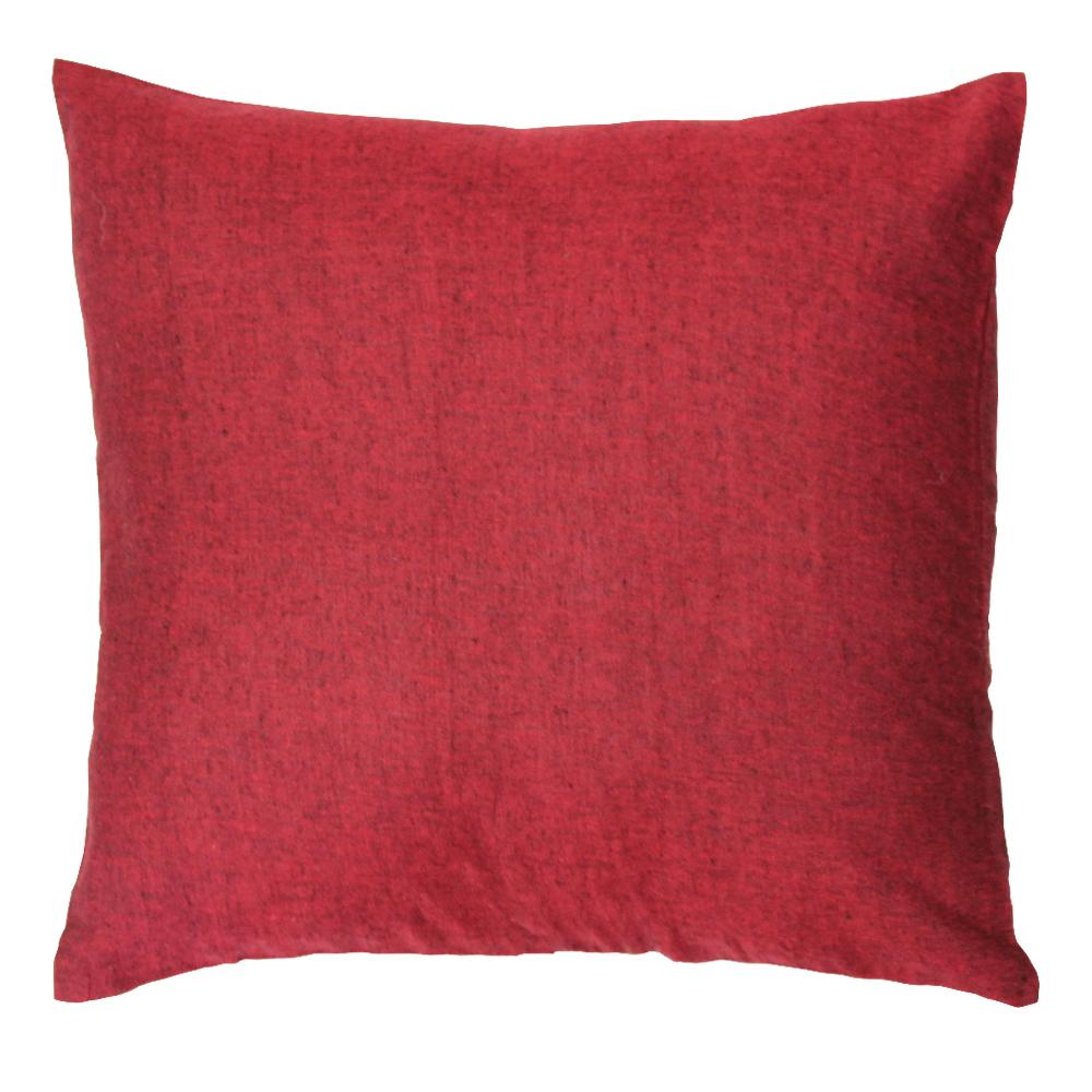 "Maroon Chambray Toss Pillow 16""W x 16""L"
