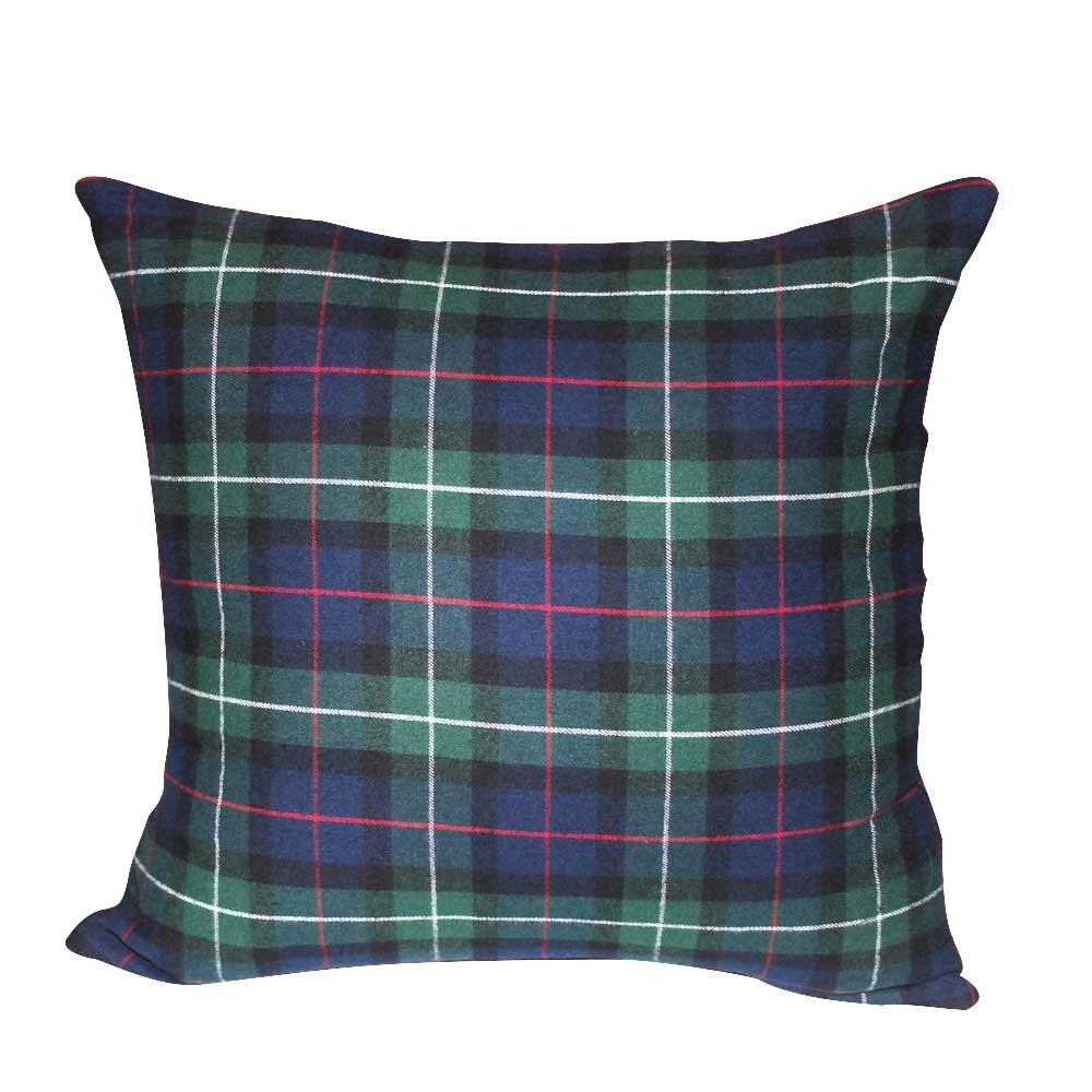 """Tartan Plaid,fabric Toss Pillow 16""""W x 16""""L"""