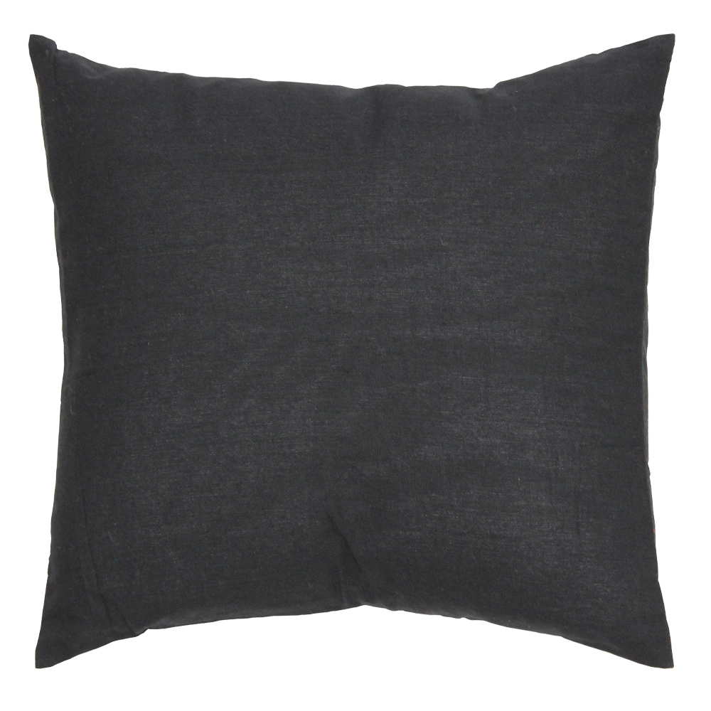 "Black Chambray Toss Pillow 16""W x 16""L"