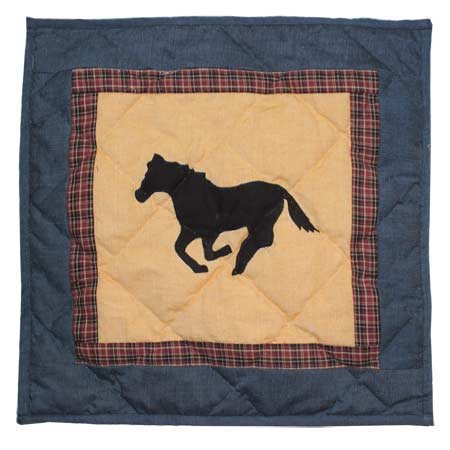 "Wild Horse trail Toss Pillow 16""W x 16""L"