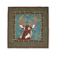 """Whitetail Deer Grove Toss Pillow 16""""W x 16""""L"""