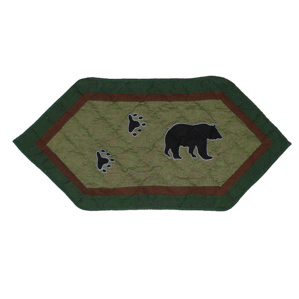 "Bear Trail Table Runner Extra Short 36""W x 16""L"