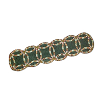 """Green Double Wedding Ring Table Runner Long 72""""W x 16""""L"""