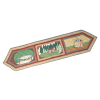 "Gone Fishing Table Runner Long 72""W x 16""L"