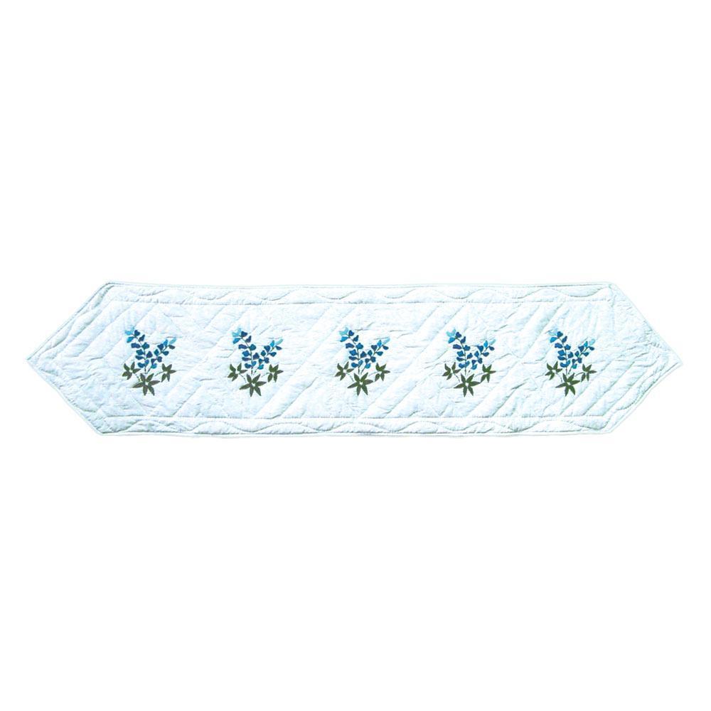 "Blue Bonnets Table Runner Short 54""W x 16""L"