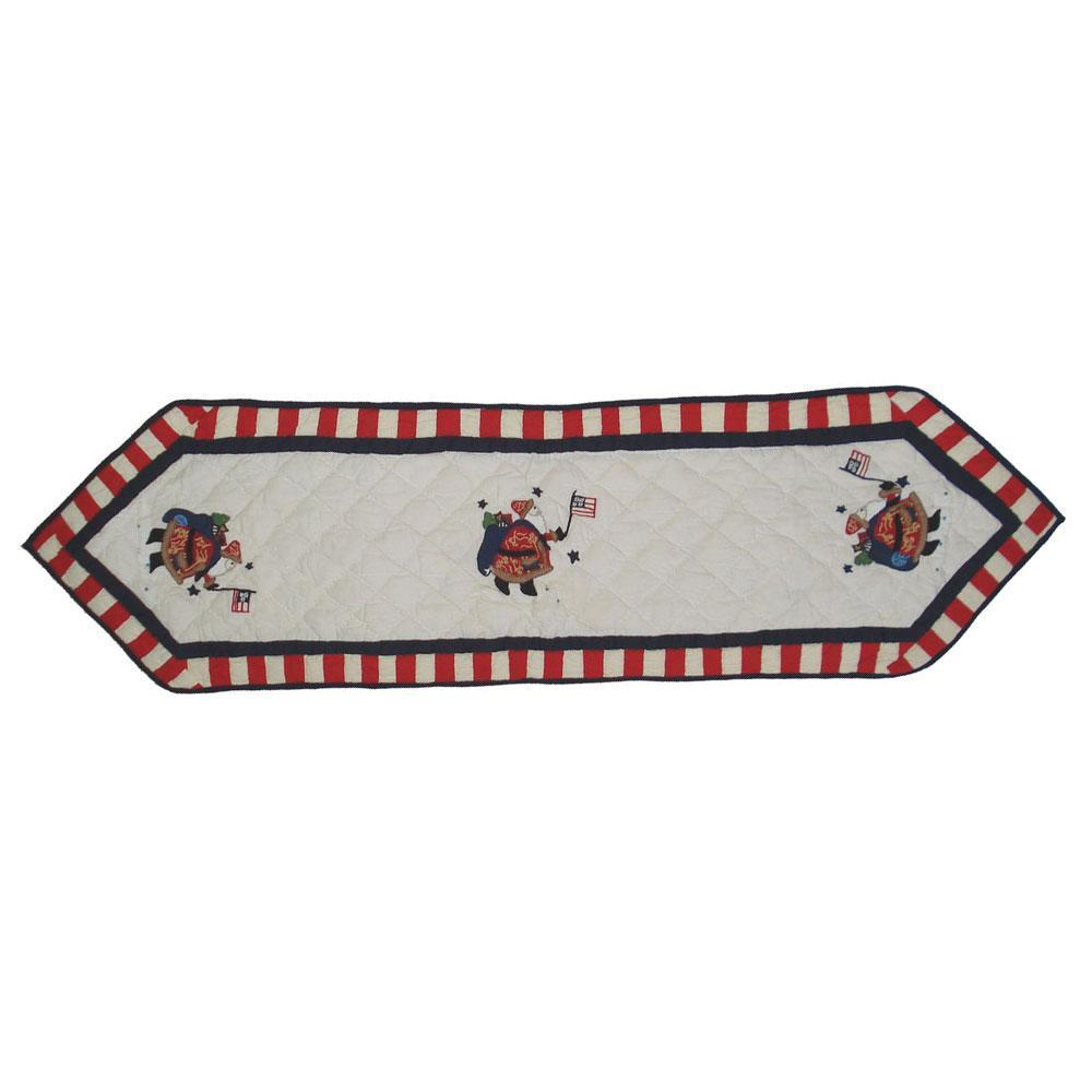 "Colonial Santa Table Runner Short 54""W x 16""L"