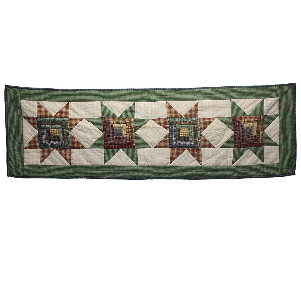 "Cottage Star Table Runner Short 54""W x 16""L"