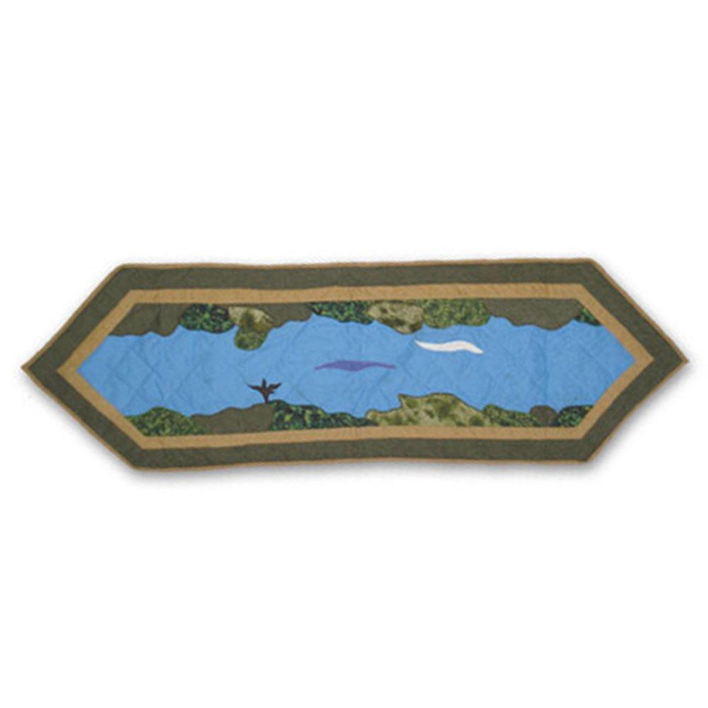 "Fly Fishing Table Runner Short 54""W x 16""L"