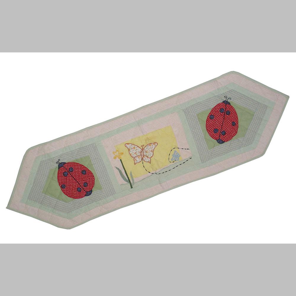 "LadyBug Table Runner Short 54""W x 16""L"