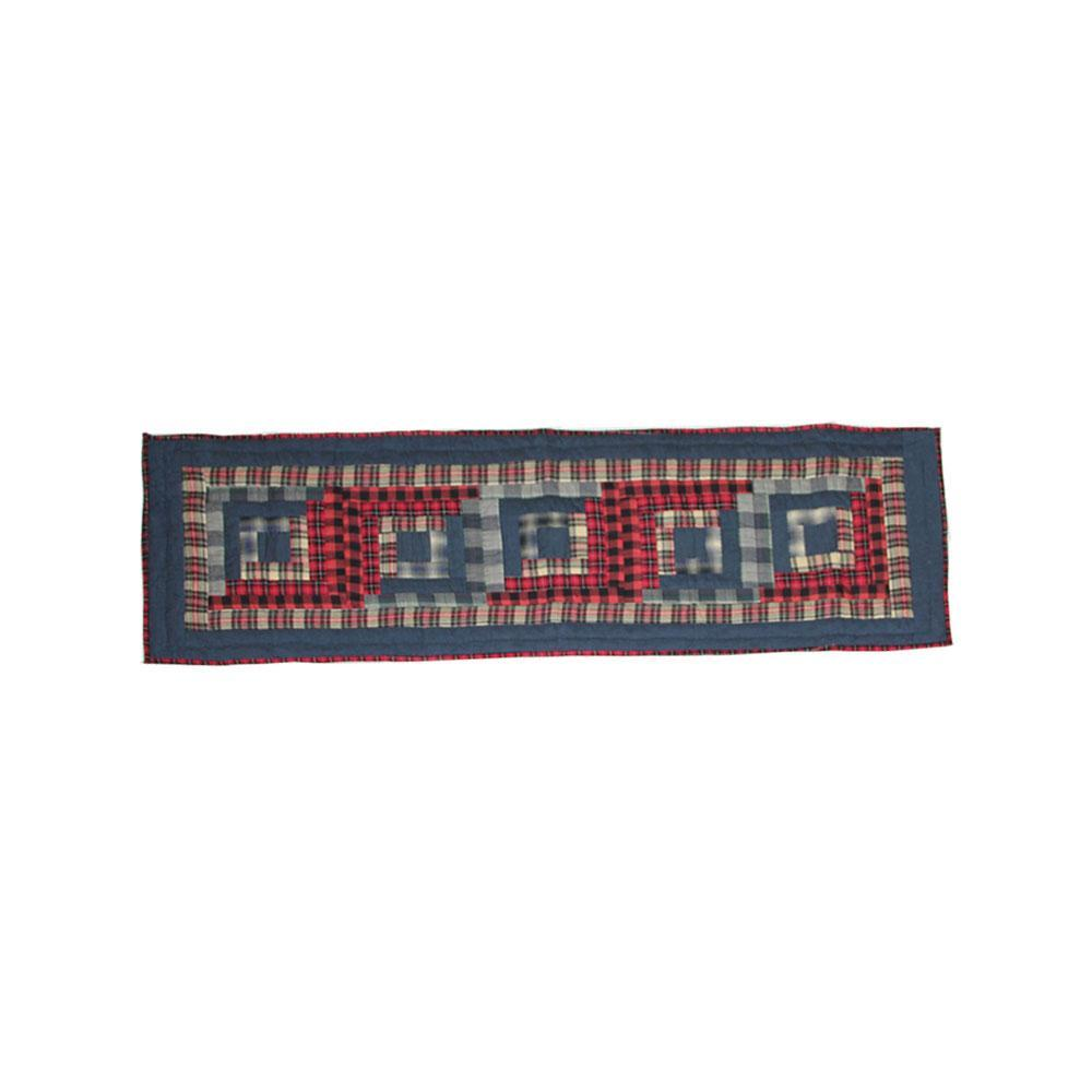 "Red Log Cabin Table Runner Short 54""W x 16""L"
