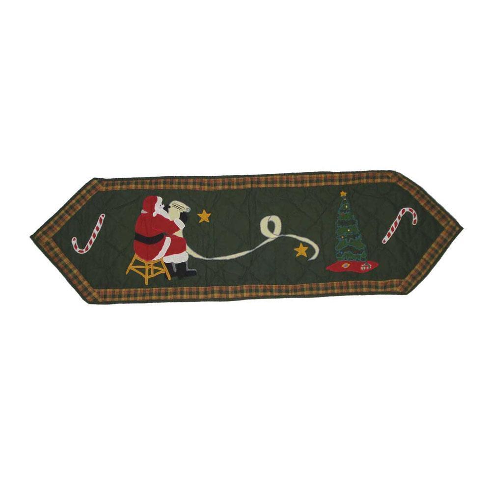 """Santa by the Fireside Table Runner Short 54""""W x 16""""L"""