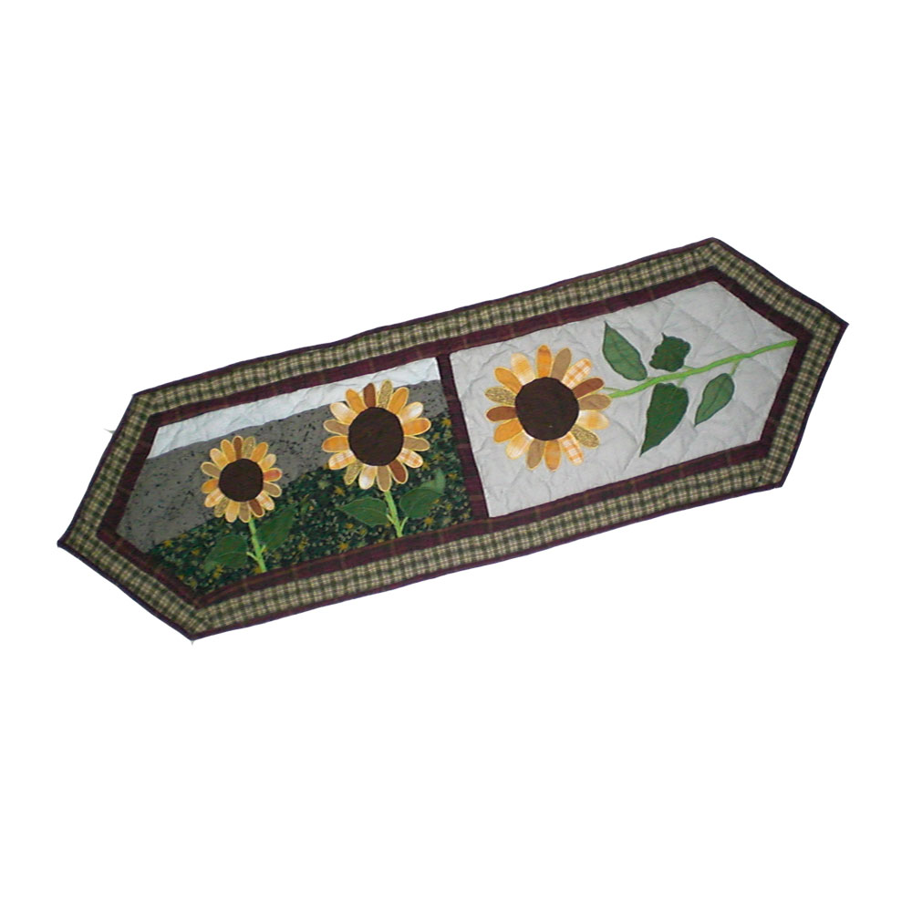 "Sun Burst Table Runner Short 54""W x 16""L"