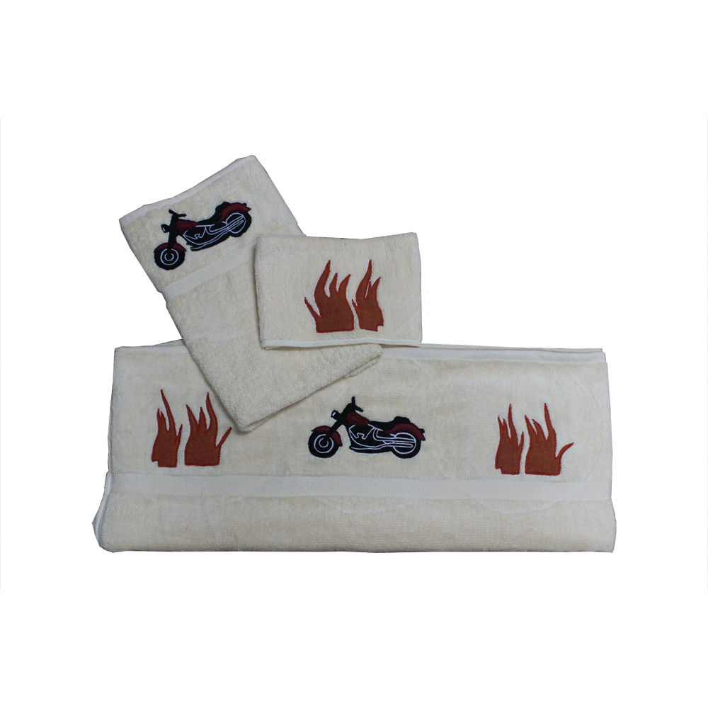 Motor Cycle Towel Set of 3