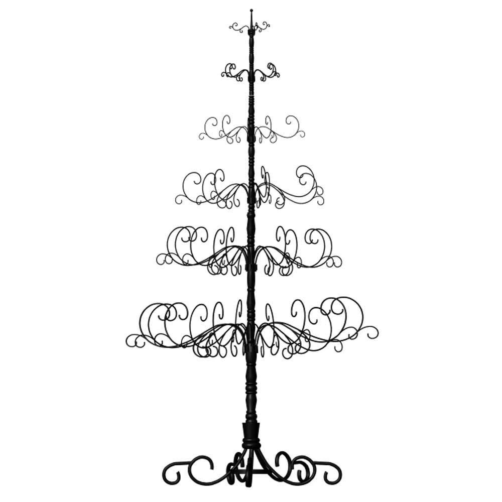 "10' Wrought Iron Black X-mas Tree with 6 Levels, 52"" x 52"" x 120"""